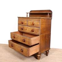 Linen Chest of Drawers Painted Simulated Oak Pine 19th Century (8 of 12)