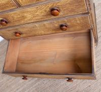 Linen Chest of Drawers Painted Simulated Oak Pine 19th Century (10 of 12)