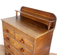 Linen Chest of Drawers Painted Simulated Oak Pine 19th Century (7 of 12)