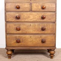 Linen Chest of Drawers Painted Simulated Oak Pine 19th Century (3 of 12)