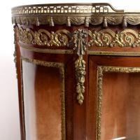 French Marble Kingwood Glazed Vitrine Display Cabinet c.1880 (8 of 20)
