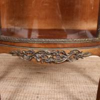 French Marble Kingwood Glazed Vitrine Display Cabinet c.1880 (9 of 20)