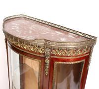 French Marble Kingwood Glazed Vitrine Display Cabinet c.1880 (14 of 20)