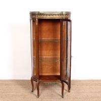 French Marble Kingwood Glazed Vitrine Display Cabinet c.1880 (20 of 20)