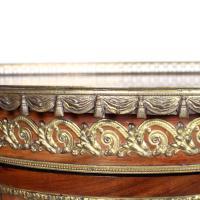 French Marble Kingwood Glazed Vitrine Display Cabinet c.1880 (6 of 20)