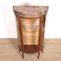 French Marble Kingwood Glazed Vitrine Display Cabinet c.1880 (2 of 20)