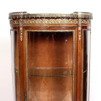 French Marble Kingwood Glazed Vitrine Display Cabinet c.1880 (4 of 20)