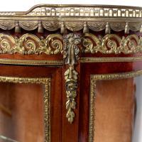 French Marble Kingwood Glazed Vitrine Display Cabinet c.1880 (7 of 20)