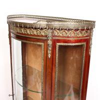 French Marble Kingwood Glazed Vitrine Display Cabinet c.1880 (13 of 20)