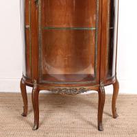 French Marble Kingwood Glazed Vitrine Display Cabinet c.1880 (5 of 20)