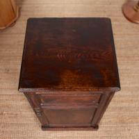 Oak Bedside Table Side Cabinet 19th Century (4 of 7)