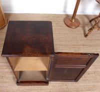 Oak Bedside Table Side Cabinet 19th Century (2 of 7)