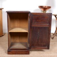 Oak Bedside Table Side Cabinet 19th Century (5 of 7)