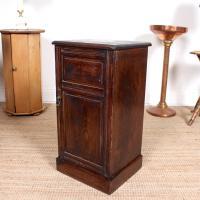 Oak Bedside Table Side Cabinet 19th Century (6 of 7)