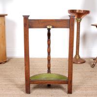 Carved Oak Umbrella Stick Stand (9 of 11)