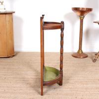 Carved Oak Umbrella Stick Stand (11 of 11)