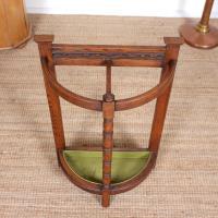 Carved Oak Umbrella Stick Stand (2 of 11)
