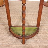 Carved Oak Umbrella Stick Stand (4 of 11)