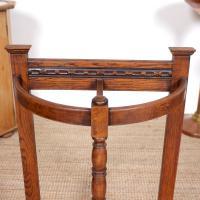 Carved Oak Umbrella Stick Stand (3 of 11)