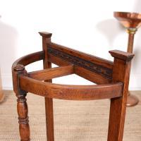 Carved Oak Umbrella Stick Stand (7 of 11)