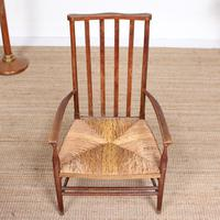 Oak Armchair Rushwork Seated Chair 19th Century (2 of 12)