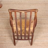 Oak Armchair Rushwork Seated Chair 19th Century (9 of 12)