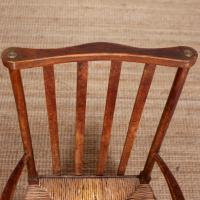 Oak Armchair Rushwork Seated Chair 19th Century (5 of 12)