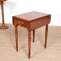 Victorian Petite Mahogany Drop Leaf Pembroke Table (2 of 11)
