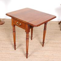 Victorian Petite Mahogany Drop Leaf Pembroke Table (6 of 11)