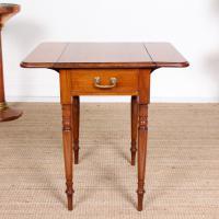 Victorian Petite Mahogany Drop Leaf Pembroke Table (10 of 11)