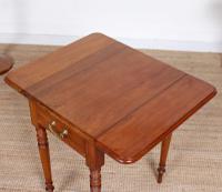 Victorian Petite Mahogany Drop Leaf Pembroke Table (7 of 11)