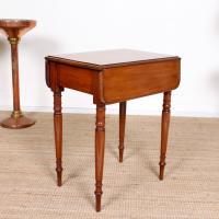 Victorian Petite Mahogany Drop Leaf Pembroke Table (11 of 11)