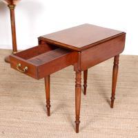 Victorian Petite Mahogany Drop Leaf Pembroke Table (4 of 11)