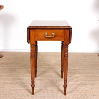 Victorian Petite Mahogany Drop Leaf Pembroke Table