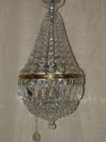 Original Bohemian Crystal Button Basket c.1920