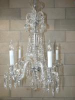 Original 5 Arm Bohemian Crystal Tulip Chandelier