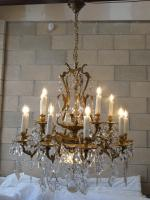 2 Tier 12 Arm Original Large Bohemian Brass Basket Chandelier