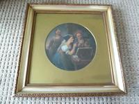 "Fine 18th Century Old Master Oil on Canvas ""Money Lenders"" Unsigned (6 of 7)"