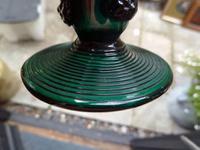 Pair of Georgian / Victorian Dark Green Glass Rummers. (5 of 8)