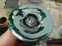 Pair of Georgian / Victorian Dark Green Glass Rummers. (6 of 8)