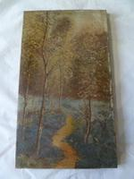 Good 19th Century Wooded Footpath Oil - Signed 'A.M.W' (2 of 5)