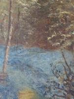 Good 19th Century Wooded Footpath Oil - Signed 'A.M.W' (4 of 5)