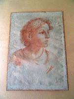 18Thc Italian ? Old Master Sanguine Chalk Study of a Youth- Indistictly Signed , Dated 1785 - Free Uk Postage (6 of 6)