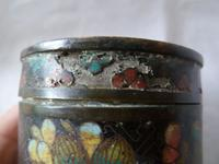 Antique Chinese 19th Century Cloisonne Lidded Box - Qing (7 of 7)