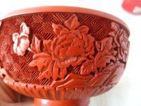 Vintage Mid Century Chinese Cinnabar Lacquer Bowl (5 of 7)
