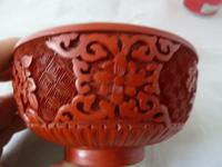 Vintage Mid Century Chinese Cinnabar Lacquer Bowl (6 of 7)