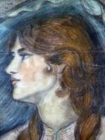 Stunning 19th Century Pre Raphaelite Portrait of a Young Lady - Rossetti, Millais, Holman Hunt (3 of 6)