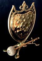 Wonderful Art Nouveau Brass Dinner Gong and Striker