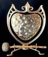 Art Nouveau Brass Dinner Gong (3 of 4)
