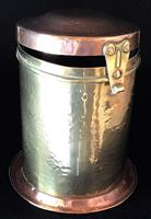Arts and Crafts Copper and Brass Tea Caddy (4 of 4)